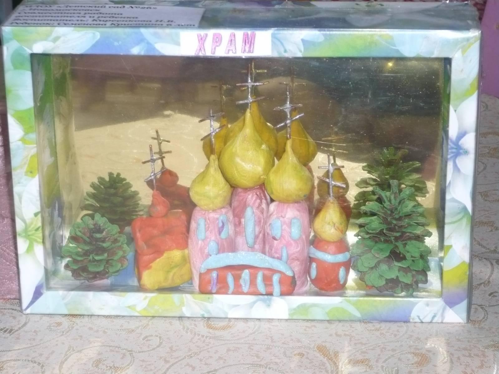 Поделка храма в школу